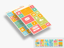 Concept of mobile user interface. Royalty Free Stock Image