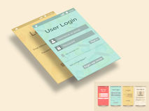 Concept of mobile user interface. Royalty Free Stock Photo