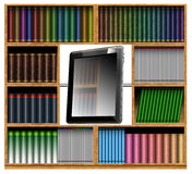 Concept of modern bookcase Royalty Free Stock Photos