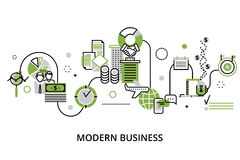 Concept of modern business process Stock Images