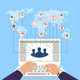 Concept of modern business and teamwork. social networks. online commerce. Royalty Free Stock Photography