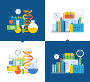Concept - modern education and research, working time and scheduling. Concept of illustration - modern education and research, distance courses, working time Stock Photos