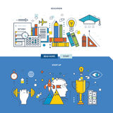Concept of modern education, training and start-up  the project. Royalty Free Stock Image