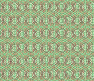 Concept modern geometry hexagon pattern with green color. geometric seamless pattern in digital style for wrapping paper Royalty Free Stock Photos