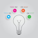 Concept of modern infographics with four options Stock Images