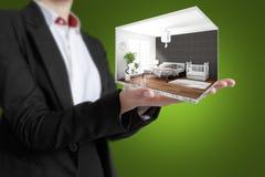 Concept modern interior. 3D rendering Stock Photo