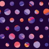 Concept modern polka dot seamless pattern Royalty Free Stock Image