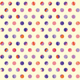 Concept modern polka dot seamless pattern Royalty Free Stock Images