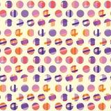 Concept modern polka dot seamless pattern Stock Photography