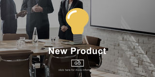 Concept moderne actuel de développement de produit nouveau photos stock