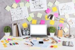 Concept moderne d'espace de travail Images stock