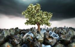 Concept moderne de bénéfice de réutiliser l'arbre d'argent élevant o illustration stock
