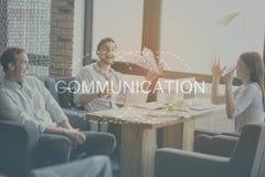 Concept moderne de communication Image libre de droits