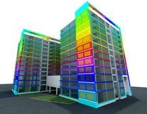 Concept moderne de construction Photographie stock libre de droits