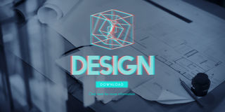 concept moderne de l'affichage 3D futuriste tridimensionnel Photographie stock libre de droits