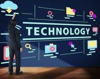 Concept moderne de réseau de connexion de dispositif de technologie Photos libres de droits