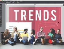 Concept moderne de style de conception à la mode de tendances Image stock