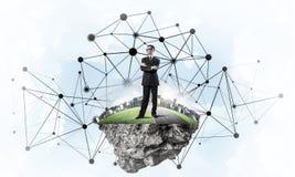 Concept moderne draadloze technologieën als efficiënt hulpmiddel voor zaken royalty-vrije stock afbeeldingen