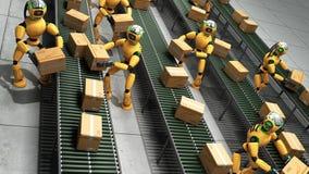Concept moderne du tri automatisé précis dans la production ou le del illustration stock