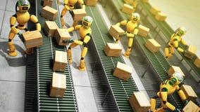 Concept moderne du tri automatisé précis dans la production ou le del illustration de vecteur