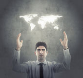 Concept Moderne Globale Zaken Royalty-vrije Stock Afbeelding