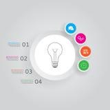 Concept moderne infographics met vier opties Royalty-vrije Stock Foto