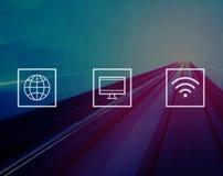 Concept moderne mondial global de connexion de Digital illustration de vecteur