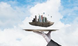 Concept moderne stedelijke ontwikkeling Stock Fotografie
