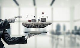 Concept moderne stedelijke ontwikkeling Stock Afbeelding