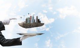 Concept moderne stedelijke ontwikkeling Royalty-vrije Stock Afbeeldingen