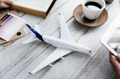 Concept modèle plat de Tablet Travel Holiday Photographie stock libre de droits