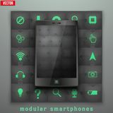 Concept of Modular smartphone. Background Illustation. Stock Photography