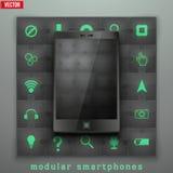 Concept of Modular smartphone. Background Illustation. Stock Photography