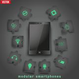 Concept of Modular smartphone. Background Illustation. Royalty Free Stock Image