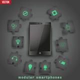 Concept of Modular smartphone. Background Illustation. Royalty Free Stock Image