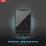 Concept of Modular smartphone. Background Illustation. Stock Photo