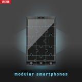 Concept of Modular smartphone. Background Illustation. Stock Photo