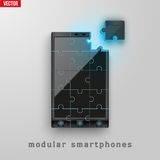 Concept of Modular smartphone. Background Illustation. Stock Photos