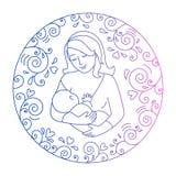 Concept moederschap Royalty-vrije Stock Afbeeldingen