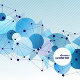 Concept moléculaire abstrait de connexion Images stock