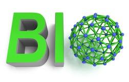 Concept moléculaire de Bioproduct Photos stock