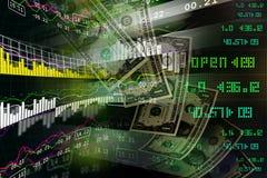 Concept monétaire et marché analysant le graphique Images libres de droits