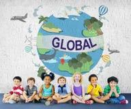 Concept mondial de climat de la Communauté globale de la température Photos libres de droits