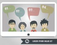 Concept mondial de communication de réseau du ` s de personnes Photo libre de droits