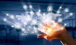 Concept mondial de technologie de media Media mélangé Photo libre de droits
