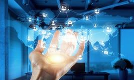Concept mondial de technologie de media Media mélangé Image libre de droits
