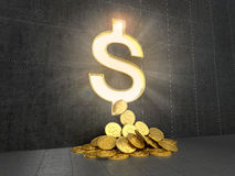 The concept of monetary gain. stock illustration