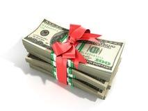 Concept of money Deposite Bonus Stack of dollar bills Cash With Stock Photography