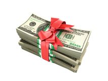 Concept of money Deposite Bonus Stack of dollar bills Cash With Royalty Free Stock Photo