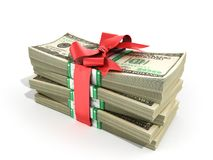 Concept of money Deposite Bonus Stack of dollar bills Cash With Royalty Free Stock Image